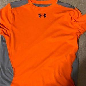 Orange and grey underarmour t-shirt
